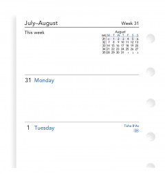 Week On Two Pages Academic Diary Pocket
