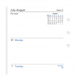 Week On Two Pages Academic Diary Personal
