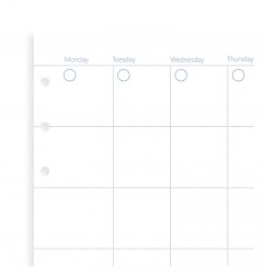 Clipbook Undated Personal Month Planner Refill