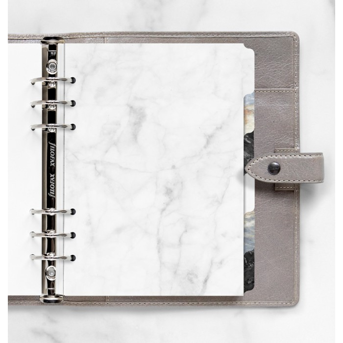 Marble Blank Index A5 - Six Tabs