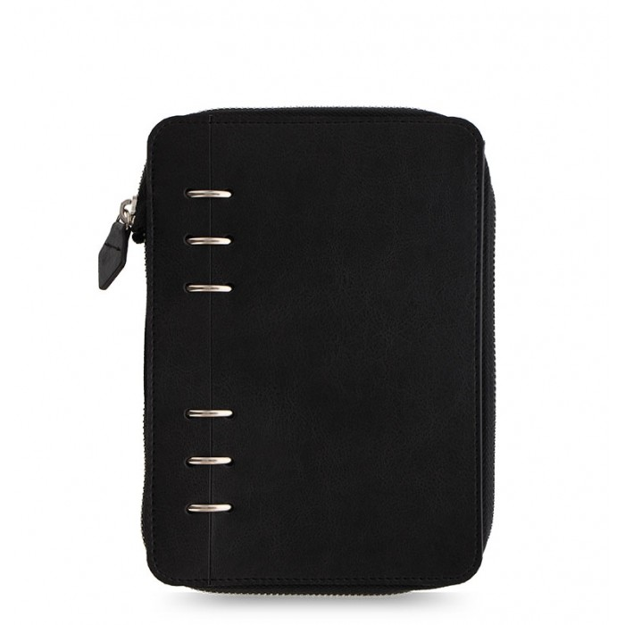 Clipbook Classic Monochrome Personal Zip Notebook Black