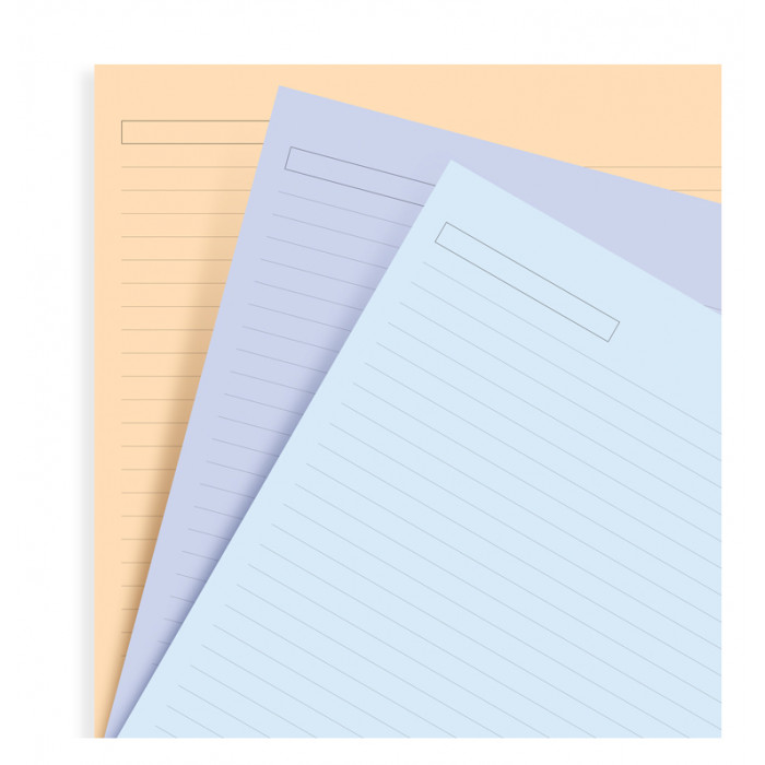 Assorted Ruled Notepaper Refill